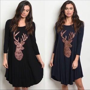 Black Reindeer Dress